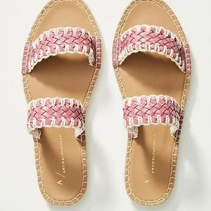 Anthropologie Regina Woven Slide Sandals NIB US 8